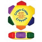 Logo Branded Liqui-Mark Crayo-Craze 6-Color Crayon Wheel (Yellow/Full-Color Decal)