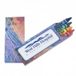 Custom Imprinted Prang Impressionist 4 Pack Crayons (Imprinted)