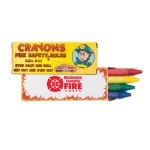 4 Pack Fire Safety Crayons Custom Printed
