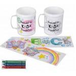 Coloring Mug & Crayon Set Custom Imprinted