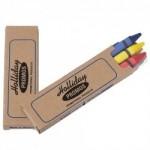 Custom Imprinted Prang Soy Economy Crayons 3 Pack (2 Side Imprint)