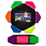 Neon 6 Color Crayon Wheel w/Full Color Decal Logo Branded