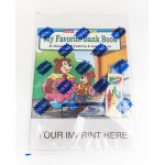 Custom Printed My Favorite Bank Book Coloring Book Fun Pack