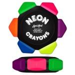 Custom Printed Liqui-Mark Crayo-Craze Neon 6-Color Crayon Wheel