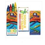 Custom Printed 4 Pack Crayons