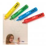 Custom Imprinted 4-Pack Bathtub Crayon Sets in Polybag