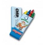 4 Count Christmas Seasons Greetings Crayon Pack Logo Branded