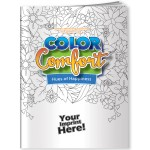 Color Comfort Coloring Book - Hues of Happiness (Flowers) Custom Imprinted