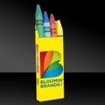 Custom Printed 4 Pack of Crayons