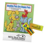 Healthy Pets Coloring Book Fun Pack (crayons included) Logo Branded