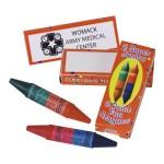 Jumbo Dual Tip Crayon Custom Printed