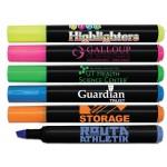 Custom Imprinted Liqui-Mark Brite Spots Black Barrel Highlighter w/Broad Chisel Tip (Full-Color Decal)
