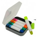 Wax Highlighter Set - 5 Colors - Clear Case Logo Printed