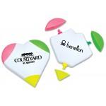 Custom Imprinted 3-Color Heart Highlighter
