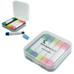 Custom Imprinted Wax Highlighter Set w/Case