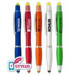 Custom Imprinted Stylus Pen & Gel Highlighter Combo