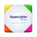 Square-Lighter 4-Color Square Shaped Highlighter Personalized