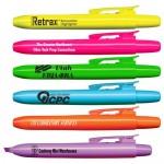 Custom Imprinted Liqui-Mark Retrax Retractable Fluorescent Highlighter