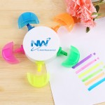 Personalized Five-color Flower-shaped Highlighter
