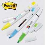 Post-it Trio Series Custom Printed Flag, Pen & Highlighter Combo (4CP) Logo Printed