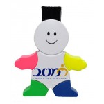 Gentlemen Shaped 4-Color Highlighter W/Computer Sweeper Personalized