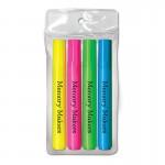 Logo Printed Liqui-Mark Brite Spots Fluorescent Barrel Broad Tip Highlighter (4-Pack)