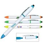 3 in 1 Highlighter/Pen/Stylus (Full Color Digital) Logo Printed