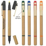 Dual Function Eco-Inspired Pen With Highlighter Custom Imprinted