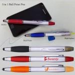 Custom Engraved 3-in-1 Ball Point Pen