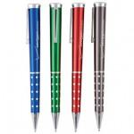 Bling Metal Twist Action Ballpoint Pen w/ Chrome Accent Logo Branded