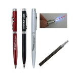 Custom Engraved METAL PEN w/ LED Light(Closed out)