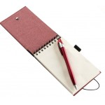 Custom Engraved Ultra Notes Cardboard Colored Paper w/ 70 Sheet Spiral Notepad