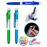 4-in1 Phone Stand LED Flashlight Stylus Pen - Full Color Custom Imprinted