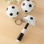 Logo Branded Soccer Folding Ballpen with Keychain