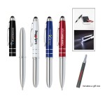 Custom Imprinted Ipad/Iphone stylus with LED and ballpoint pen