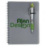 Silver Champion/Notebook Combo - Green Custom Imprinted