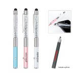 Custom Imprinted Crystal Stylus Metal Pen with Laser Pointer