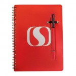 Double / Notebook Combo - Red Custom Engraved