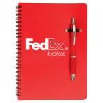 Marino / Notebook Combo - Red Custom Engraved