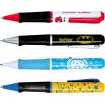 Custom Engraved Projection Plastic Grip Pen - Color Projection Image