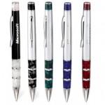 Oscar Twist Action Ballpoint Pen w/ Marble Look Accent Custom Imprinted
