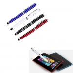 Logo Branded Wholesale 4 in 1 metal LED light ballpoint