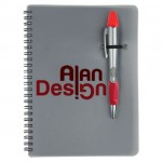Custom Engraved Silver Champion/Notebook Combo - Red