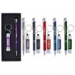 Custom Imprinted Tres-Chic/Chroma - Laser Engraved Metal Pen & Flashlight Gift Set