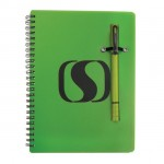 Double / Notebook Combo - Green Logo Branded