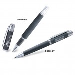 Custom Engraved Platinum Series Metallic Cap Off Roller ball Pen