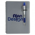 Custom Imprinted Silver Champion/Notebook Combo - Blue