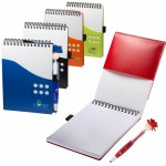 Custom Imprinted Two-Tone Jotter w/MopToppers Stylus Pen
