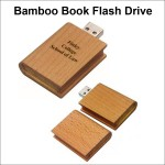 Bamboo Book Flash Drive - 64GB Memory