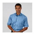 Custom Embroidered Men's Van Heusen Short Sleeve Twill Dress Shirt